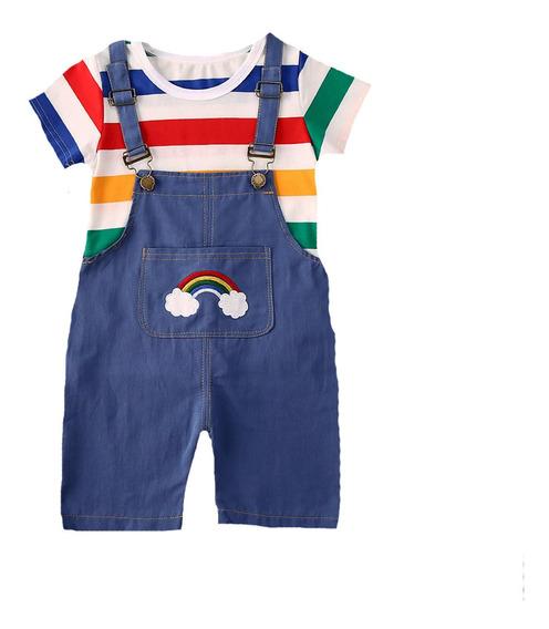 Overol Short Pantalon Para Niño