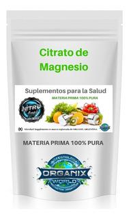 Citrato De Magnesio 500 Grs C/u 100% Puro