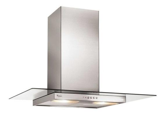 Extractor cocina Whirlpool WAI93AR ac. inox. y vidrio de pared 52cm x 90cm inoxidable 220V