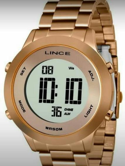 Relógio Feminino Digital Folheado A Ouro