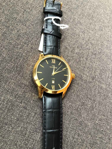 Relógio Masculino Technos Pulseira De Couro Garantia