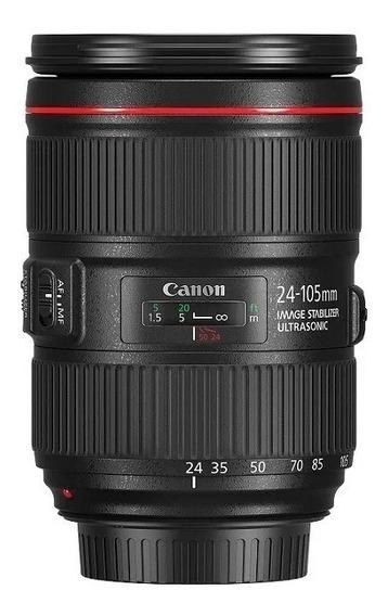 Lente Canon Ef 24-105mm F/4l Is Ii Usm Nova ! P/ Full Frame