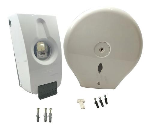 Kit Disp. De Toallas Circular+ Disp. De Jabón De Lujo P/baño