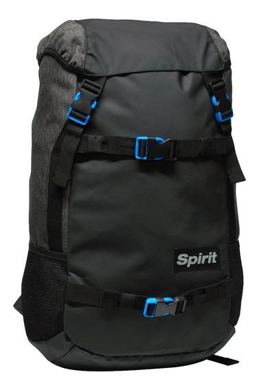 Mochila Spirit Box Gris Osc /negro ( Porta Skate/notebook )