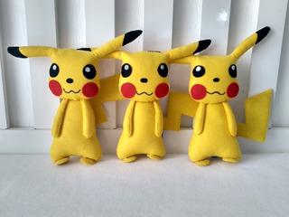 Bonecos Do Pikachu Em Feltro 3 Unidades