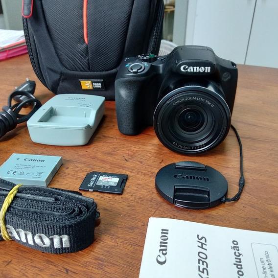 Câmera Fotográfica Semi Profissional Canon Sx530hs Zoom 50x