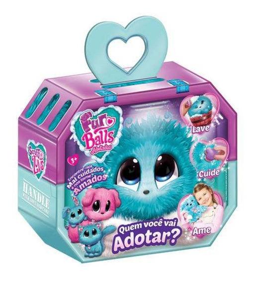 Brinquedo Fur Balls Pets Adotados Surpresa Azul - Fun
