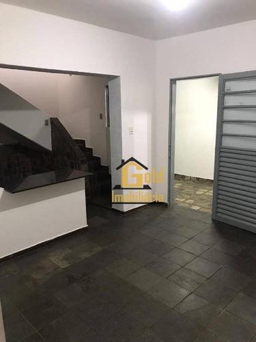 Casa Com 2 Dormitórios À Venda, 177 M² Por R$ 636.000,00 - Centro - Ribeirão Preto/sp - Ca0801