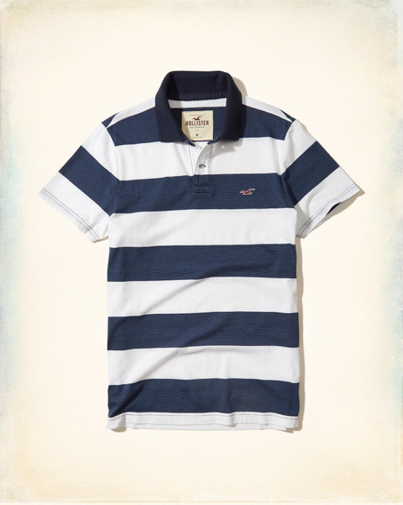 Playera Polo Hollister Rayas 321-364-0641-224