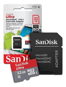 Cartão Microsd Sandisk Ultra 32gb 80mb/s Classe 10 Liquida