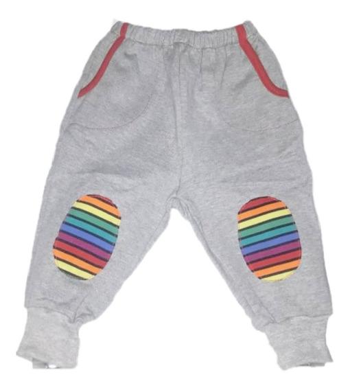 Pantalones Bebe Algodón Babucha Con Puño