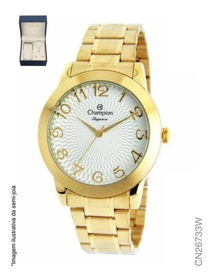 Relógio Champion Feminino Analógico Dourado Cn26733w