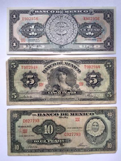 14 Billetes México De 1 Peso Calendario A 5000 Niños Héroes