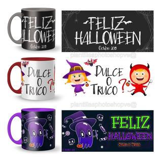 Plantillas Halloween Tazones Png Sublimación 2019