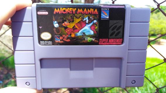 Fita Jogo Super Nintendo Cartucho Mickey Mania