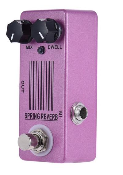 Pedal Reverb Para Guitarra Mosky Spring Micro Pedal