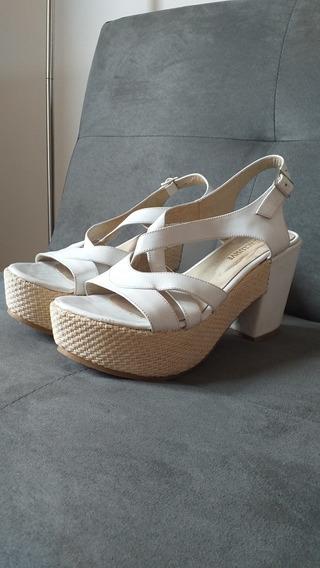 Sandalias Blancas Ecocuero