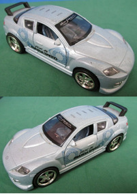 Miniatura Mazda Rx 8 Esc. 1:32 Abre Portas Acendem Luzes