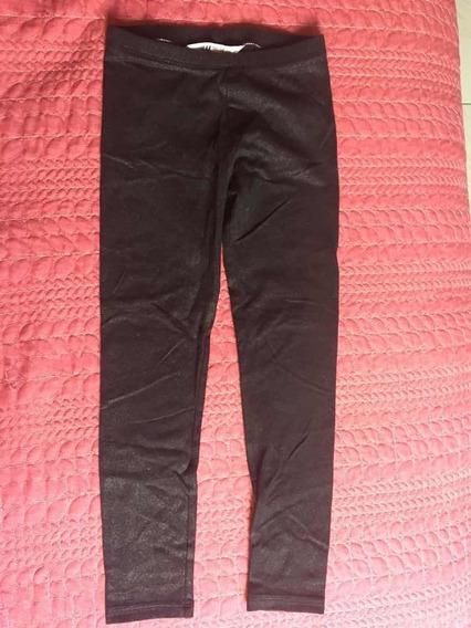 Leggings Negros Brillosos De Niña H&m Talla 6-7