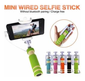 Mini Bastão De Selfie Retrátil Kit C/100 Promoção Fim De Ano