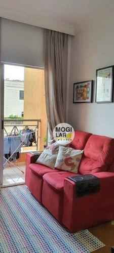Apartamento Com 2 Dormitórios À Venda, 57 M² Por R$ 240.000,00 - Vila Rubens - Mogi Das Cruzes/sp - Ap0523