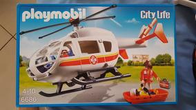 Helicoptero Resgate Medico Playmobil