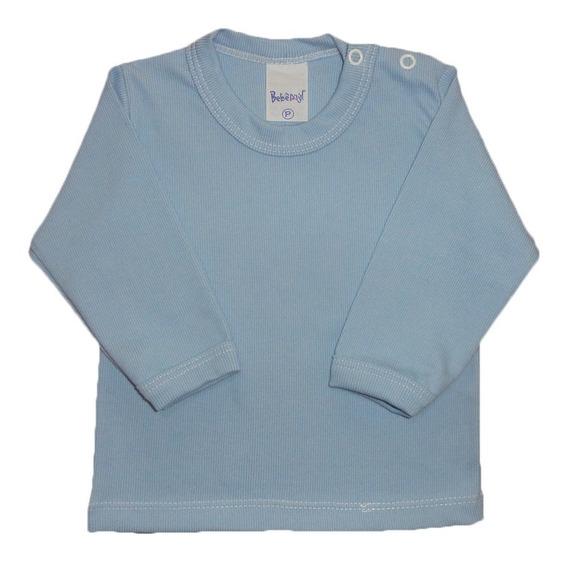 Camiseta Bebê Manga Longa Menina Menino Algodão P - M - G