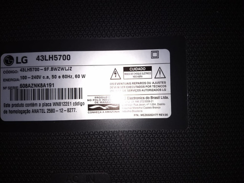 Vendo Tv LG 43lh5700 Tela Quebrada Para Retirada De Peças