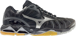Tenis Mizuno Voleibol Wave Tornado X Negro - Plata