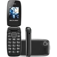 Celular Flip Up Multilaser Cor Preto Dual Chip Mp3 P9022