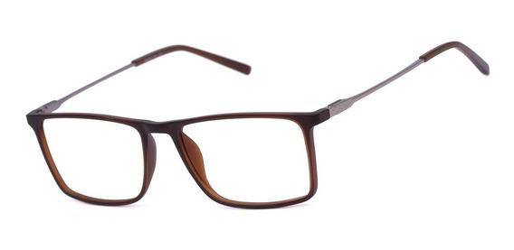 Armação Oculos Ogrife Og 1515-c Masculino Com Lente Sem Grau