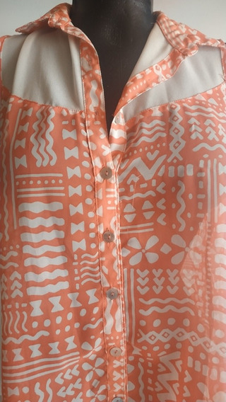 Blusa Estampada/ Usada En Buen Estado/ Talla M