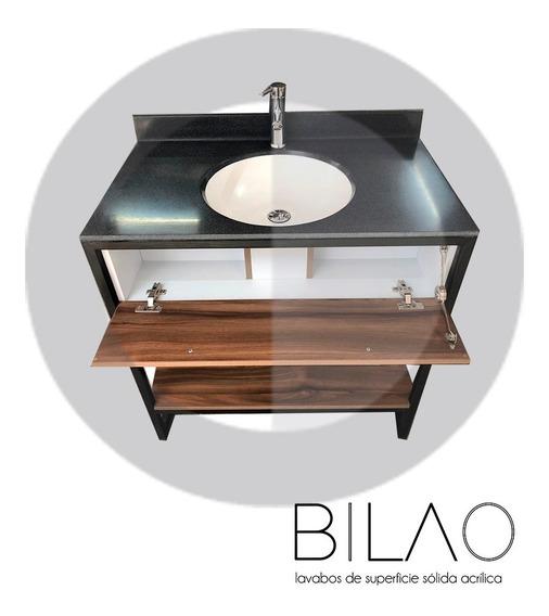 Lavabo Superficie Solida Eco Negro (incluye Mueble)