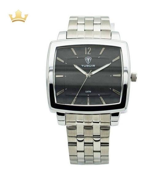 Relógio Masculino Tuguir Analógico 5436g Prata Com Nf
