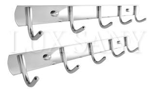 Lux Sany Bjl-c008-5 Set 2 Percheros Acero Inox 5 Ganchos