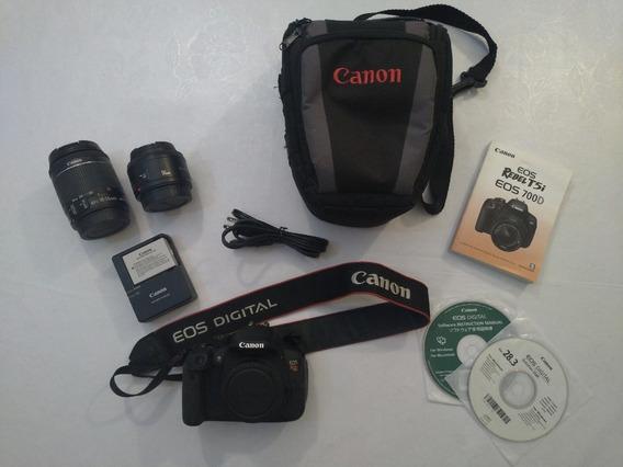 Câmera Fotográfica Dslr Canon Eos Rebel T5i + 2 Lentes