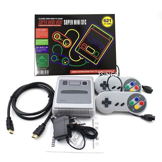 Snes Console De Vídeo Game Super Mini Hdmi - 621 Jogos