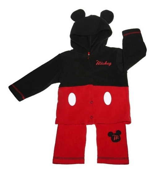 Pijama Bb Ideal Disney Pantalon Playera Polar Bordado Mickey