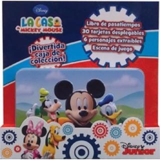 Mickey Mouse Libro De Pasatiempos Escenarios Caja De Lata Di