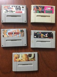 Lote 5 Juegos Para Super Nintendo / Famicom Ntdf