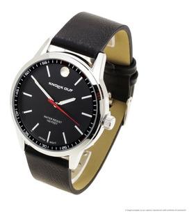 Reloj Knock Out Kn2590 Hombre Malla De Cuero