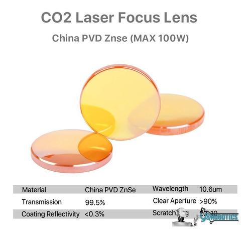 Lente Laser Co2 D19.05mm Fl 50.8mm Cnc Dioxido Carbono 2mm