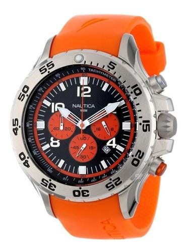 Relógio Nautica N14538g Laranja