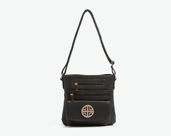 Bolsa Cruzada Color Negro Marca Lady Sun Para Mujer Pr-3823122