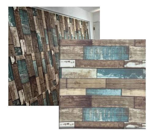 Panel 3d Madera Color Adhesivo 70x77 Cm
