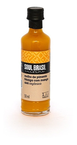 Molho Orgânico Pimenta Fidalga Com Manga 50 Ml - Soulbrasil