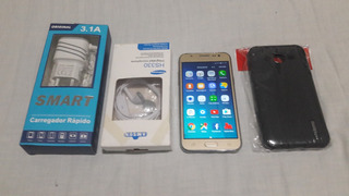 Samsung Galaxy J5 Dourado Sem Detalhes + Acessórios.