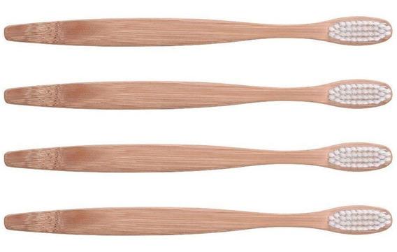 2 Pz Cepillo Dental Biodegradable Bambu Dura 6 Veces Más