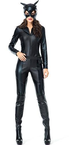 Imagen 1 de 6 de Disfraz De Halloween Catwoman Cosplay Mujer