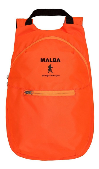 Mochila Packable Malba Naranja Por Legion Extranjera